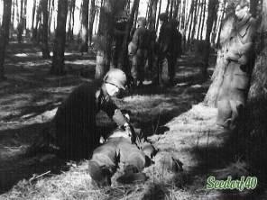 De gewonde soldaat