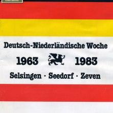 Voorzijde brochure Deutsch-Niederländische Woche (1983)