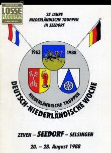 Voorzijde brochure Deutsch-Niederländische Woche (1988)