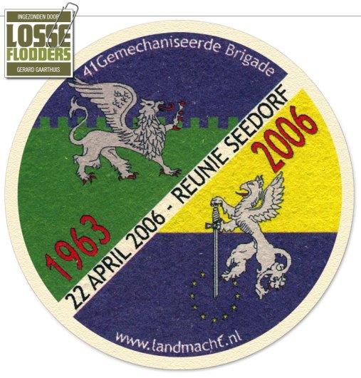 Speciaal bierviltje t.g.v. reünie Seedorf (2006)
