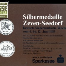 Advertentie herdenkingspenning 20 jaar Nederlandse Troepen in Duitsland. Oplage: 500 stuks (1983)