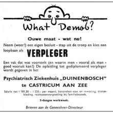 Personeelsadvertentie Duinenbosch