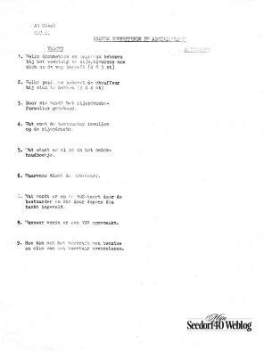 Vragenlijst #1