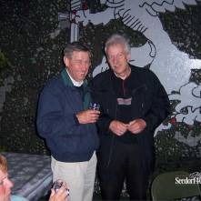 Seedorf reünie 2006: Overste b.d. Rademakers destijds CC 41 Hrst-Cie met Thijs Vervloet
