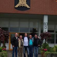 Seedorf reünie 2006: Anton, Antoon, René, Piet en Eric voor nieuwe werkplaats 41 Hrst-Cie