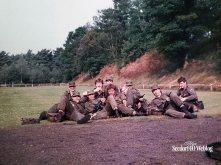 Juli 1984: op de schietbaan bij Seedorf