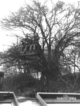 Hoog in de boom, Aad Groot en Frans Mertens