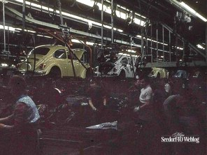 Wolfsburg, 4 november 1971 VW fabriek (verboden foto's te nemen...)
