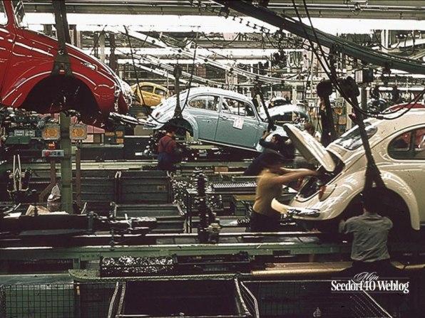 Wolfsburg, 4 november 1971 VW fabriek